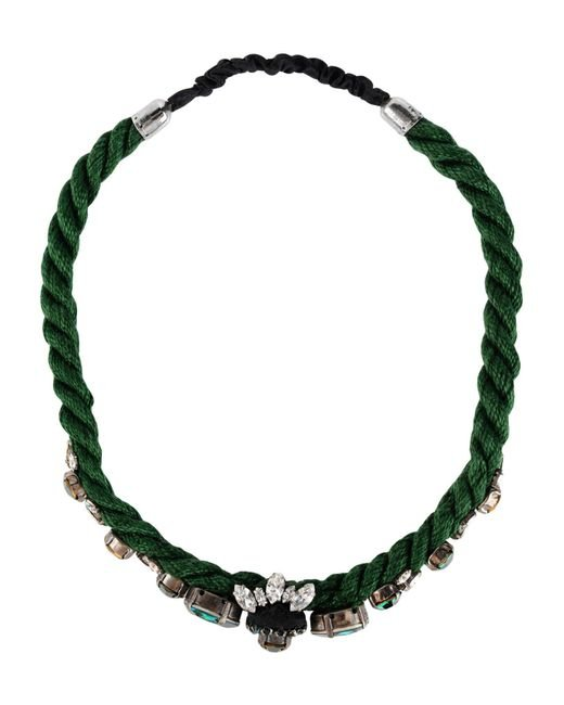 Shourouk - Green Necklaces - Lyst