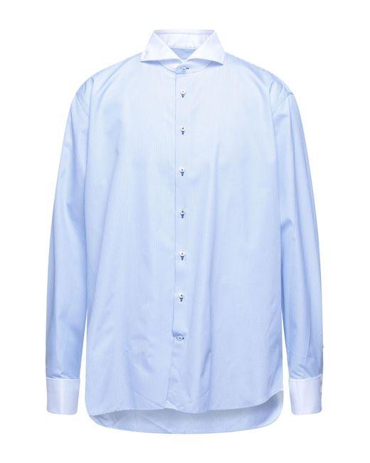 Camicia di Stenstroms in Blue da Uomo