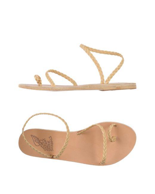 Ancient Greek Sandals Natural Toe Strap Sandal