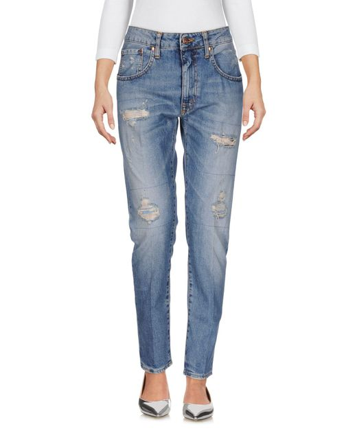 People - Blue Denim Pants - Lyst