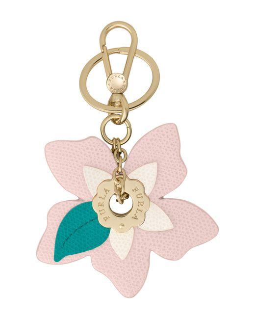 Furla - Pink Key Ring - Lyst