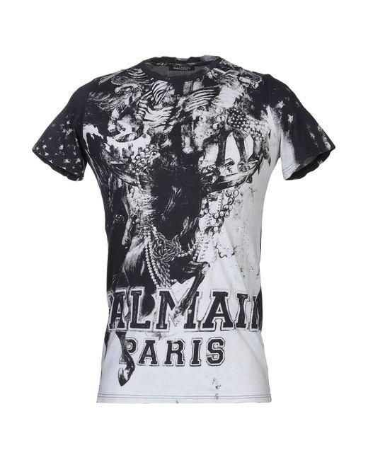 b2fe29eb Balmain - Gray T-shirt for Men - Lyst ...