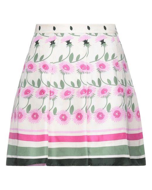 Mini-jupe Valentino en coloris Natural