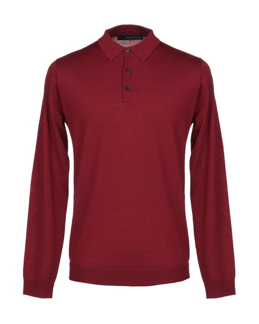 Pullover di Jeordie's in Red da Uomo