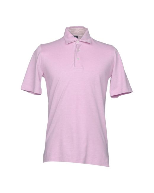 Fedeli - Pink Polo Shirts for Men - Lyst