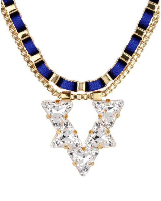 John & Pearl - Blue Necklaces - Lyst