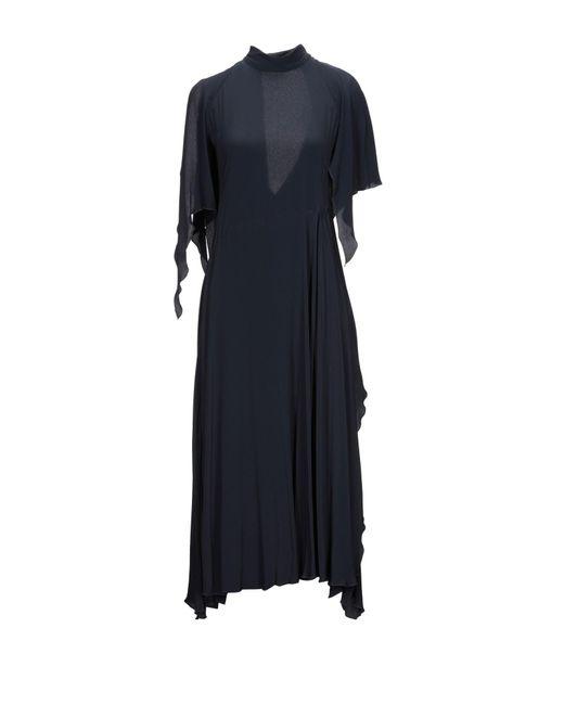 Erika Cavallini Semi Couture Blue Midikleid