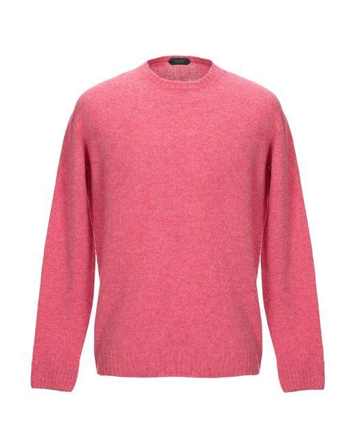 Zanone Pullover in Pink für Herren