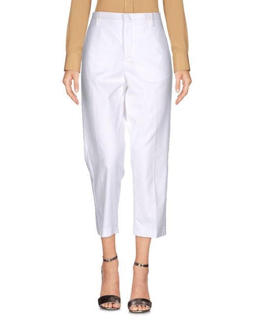 N°21 White 3/4-length Trousers