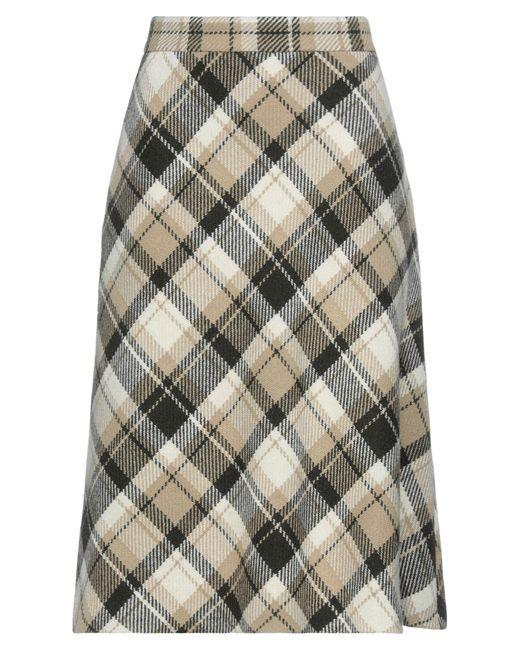 Miu Miu Natural 3/4 Length Skirt