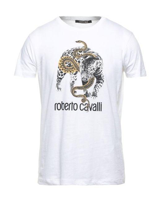 Camiseta Roberto Cavalli de hombre de color White