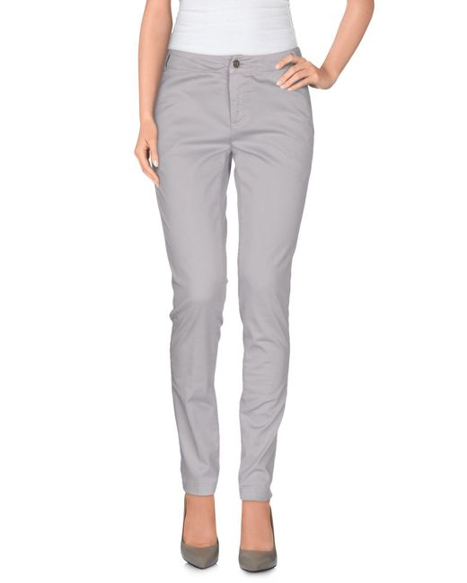 Mauro Grifoni - Gray Casual Trouser - Lyst