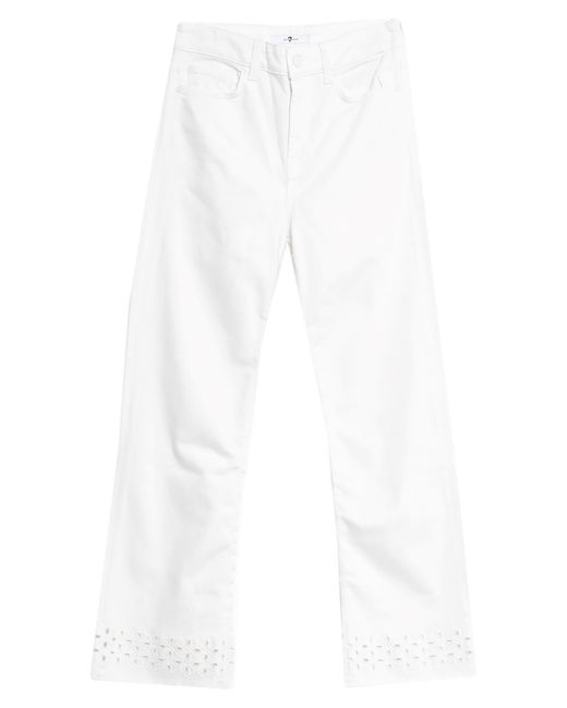 Pantaloni jeans di 7 For All Mankind in White