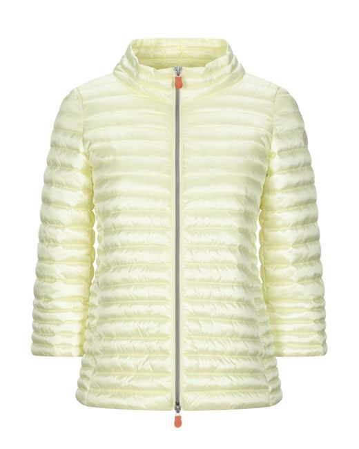 Save The Duck Yellow Synthetische Daunenjacke