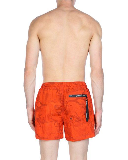 Boxer da mare di Kilt Heritage in Orange da Uomo