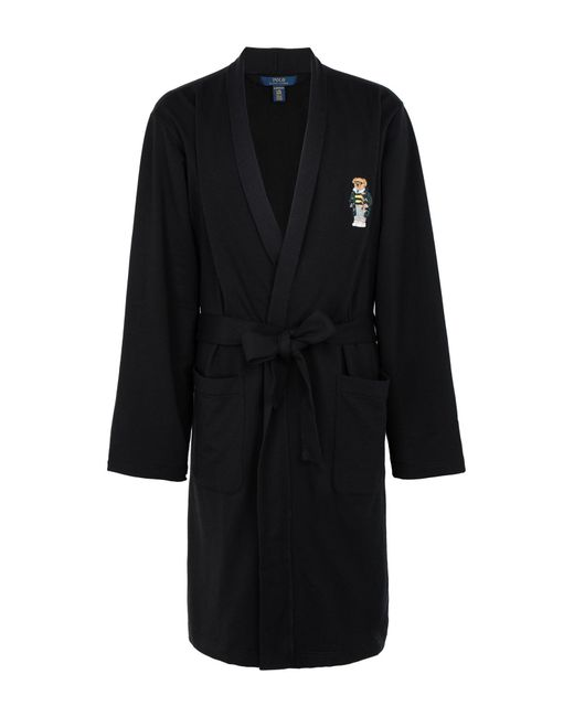 Polo Ralph Lauren Dressing Gown in Black for Men - Lyst