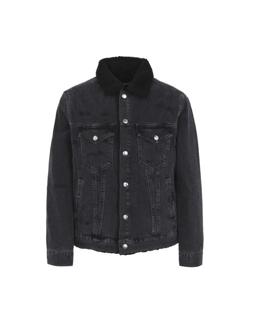 Department 5 - Black Denim Outerwear for Men - Lyst