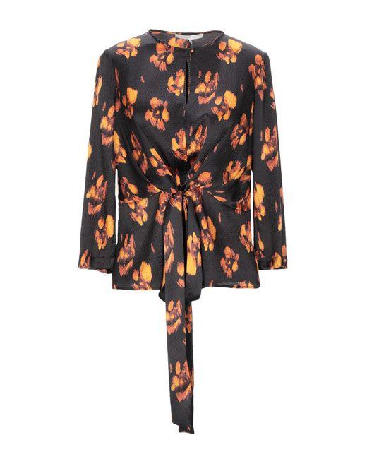 L'Autre Chose Blusa de mujer de color marrón RiHPj