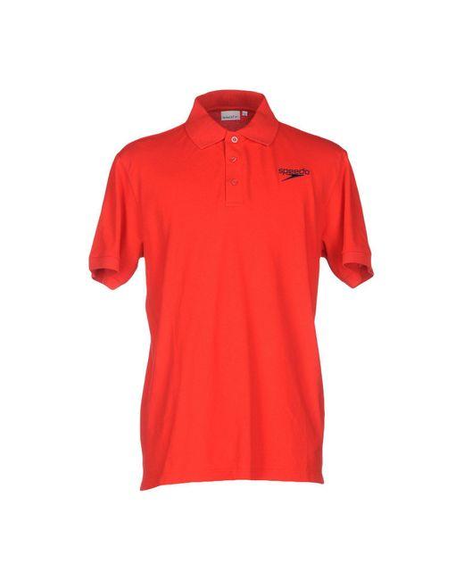 Speedo - Red Polo Shirt for Men - Lyst