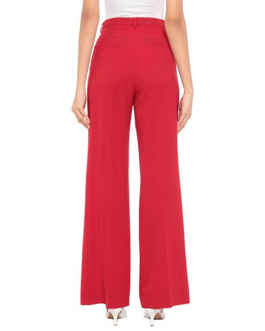 Ottod'Ame Pantalon femme de coloris rouge