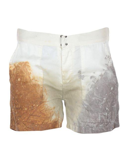 MM6 by Maison Martin Margiela White Shorts