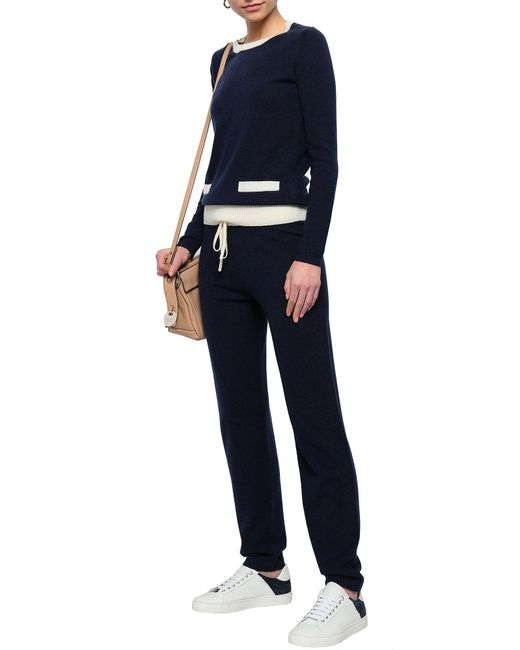 Madeleine Thompson Pantalon femme de coloris bleu