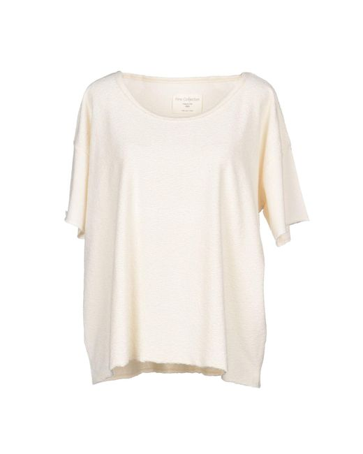 Fine Collection - White T-shirt - Lyst