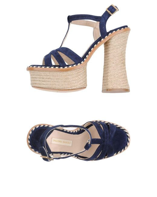 Paloma Barceló - Blue Sandals - Lyst