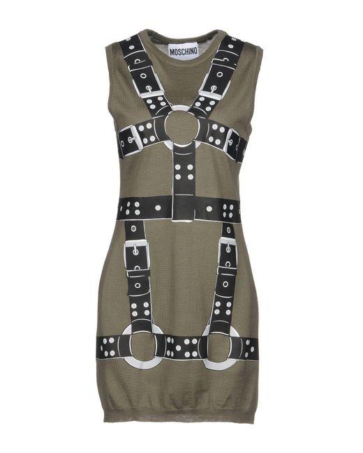 Moschino - Green Short Dress - Lyst
