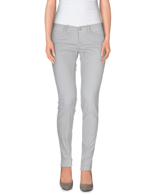Jfour - Gray Casual Trouser - Lyst
