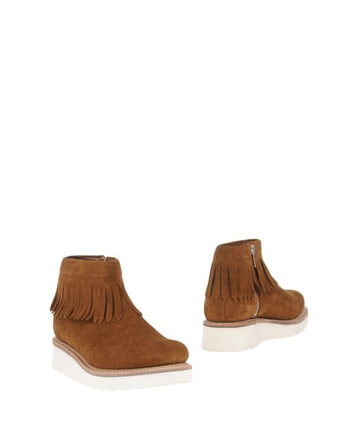 GRENSON | Natural Ankle Boots | Lyst