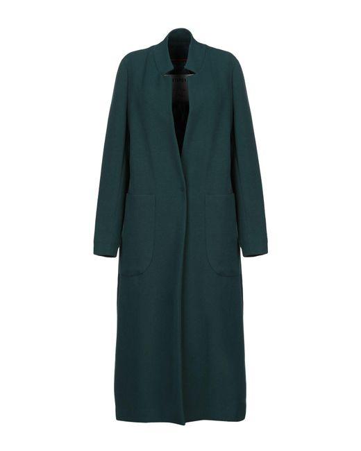Shirtaporter Abrigo de mujer de color verde
