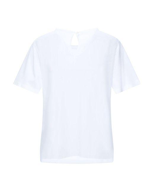 Marco De Vincenzo Camiseta de mujer de color blanco m9x8V