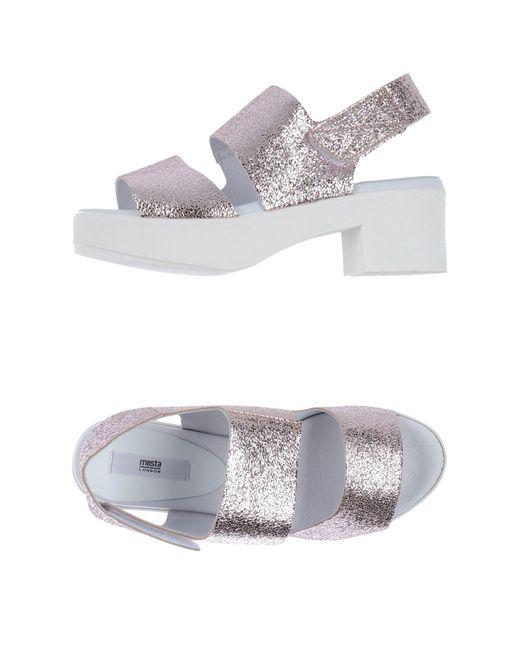 Miista - Pink Sandals - Lyst