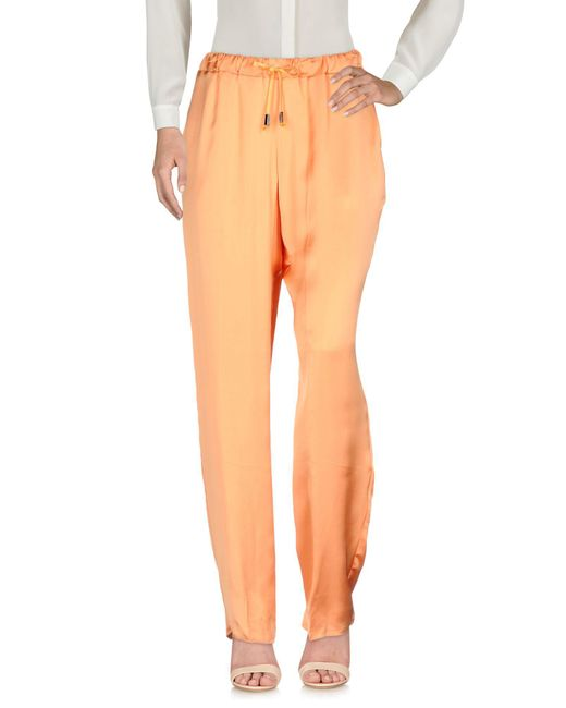 Jijil Orange Casual Trouser