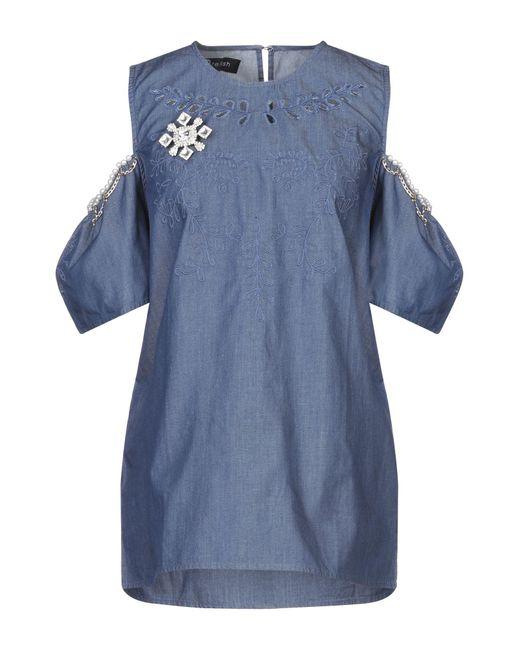 Relish Camisa vaquera de mujer de color azul