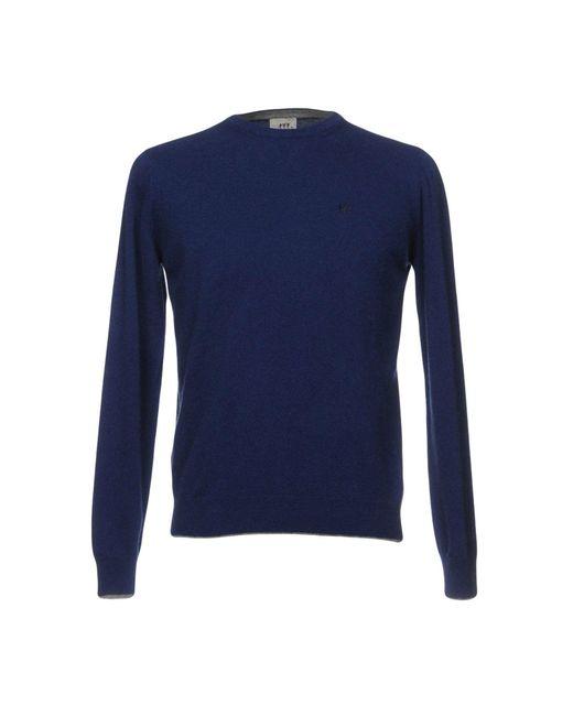 Henry Cotton's - Blue Jumper for Men - Lyst