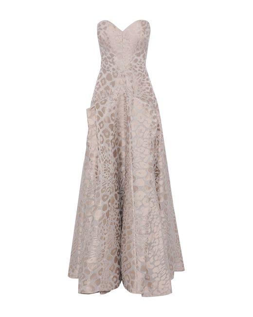 Zac Posen Natural Long Dress