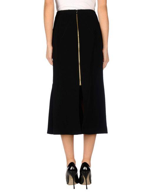 Roland Mouret Black 3/4 Length Skirt