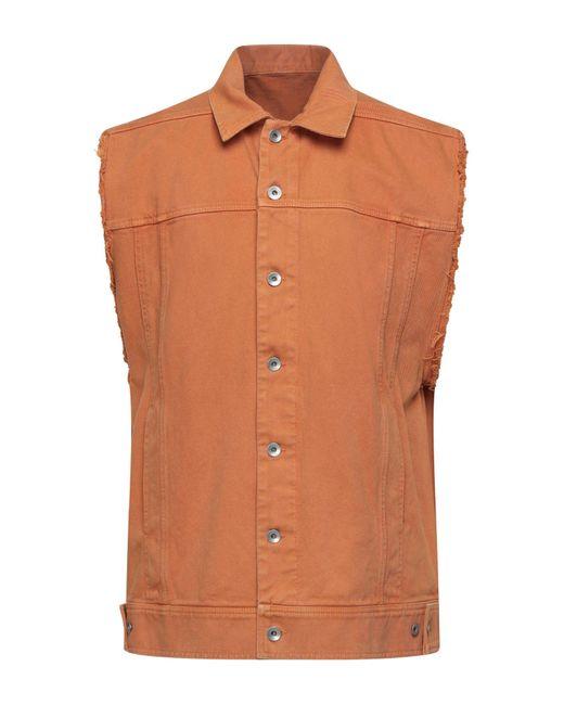 Capospalla jeans di Rick Owens Drkshdw in Brown da Uomo