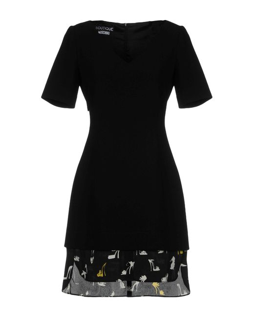 Boutique Moschino - Black Short Dress - Lyst