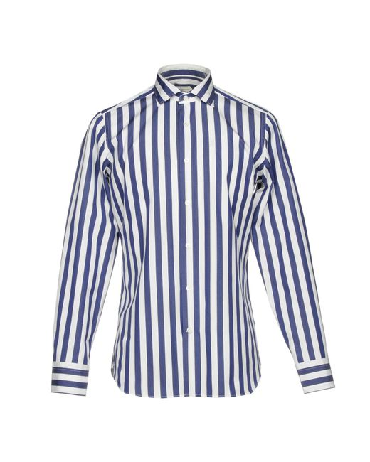 Guglielminotti - Blue Shirts for Men - Lyst