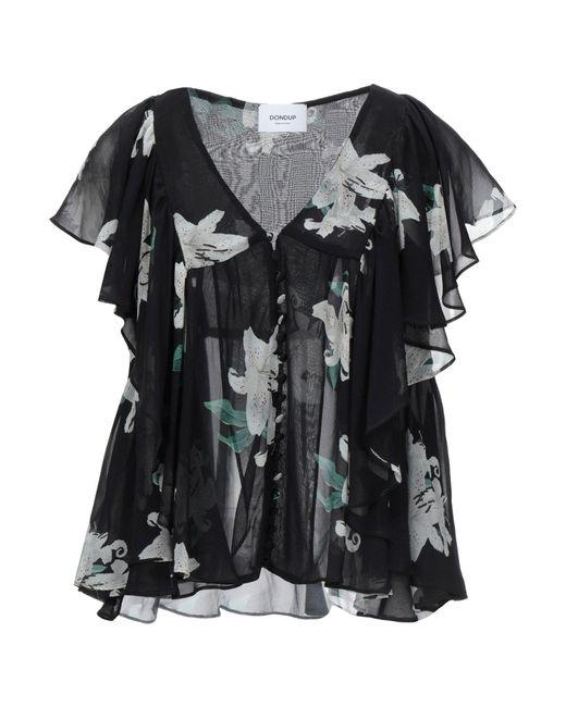 Dondup Camisa de mujer de color negro Mfojs