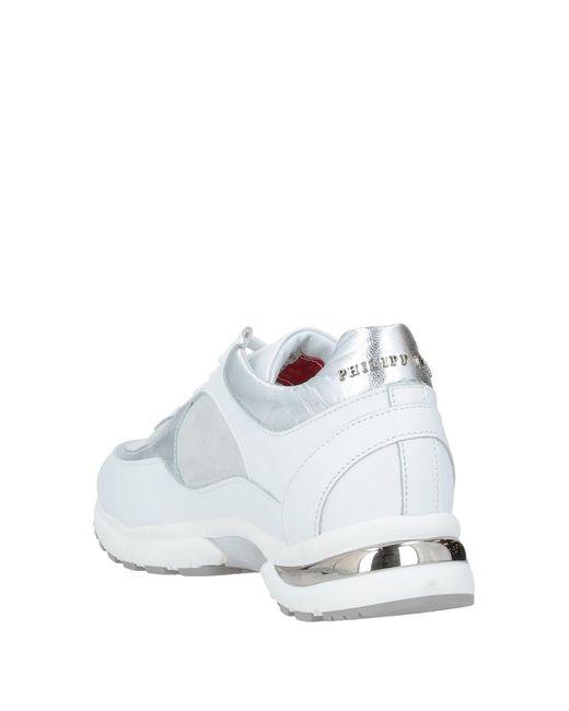 Philipp Plein White Low Sneakers & Tennisschuhe