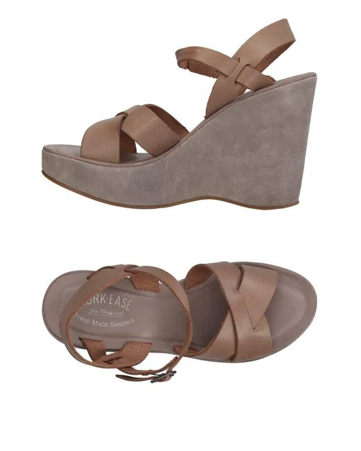 Kork-Ease Gray Sandals