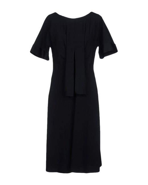 Alberta Ferretti - Black Knee-length Dresses - Lyst