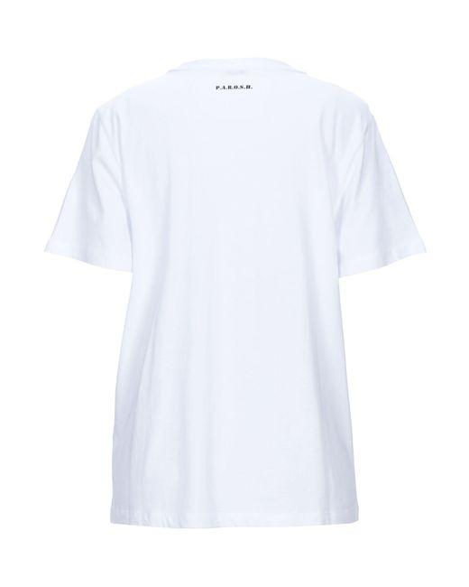 P.A.R.O.S.H. Camiseta de mujer de color blanco xMdQB
