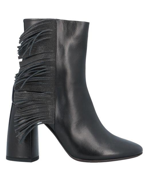 Brunello Cucinelli Black Ankle Boots