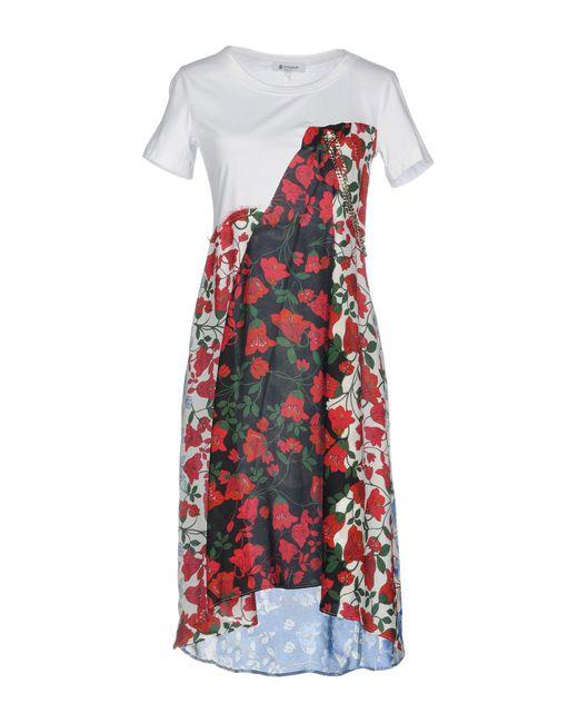 Dondup White Short Dress