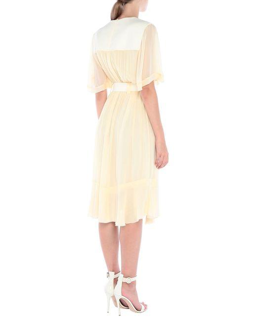 Robe aux genoux Chloé en coloris White